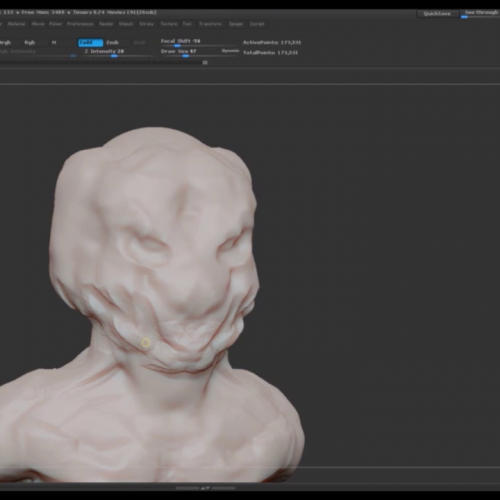 Creature Sculpt – Timelapse 10min time limit
