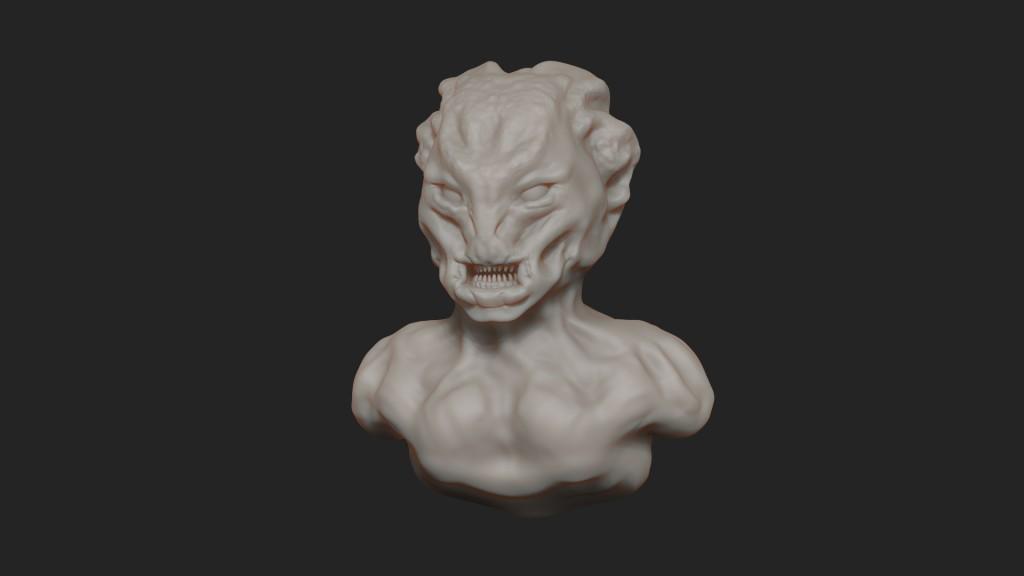 creature sculpt_timelapse_10min